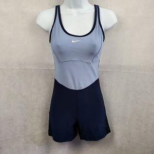 Nike Blue Dri-fit One Piece Shorts Romper Size M